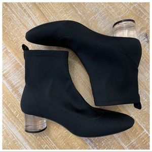 ZARA BLACK SOCK ANKLE BOOTS